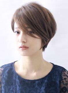 ☆大人の前髪長めショート☆(髪型ショートヘア)