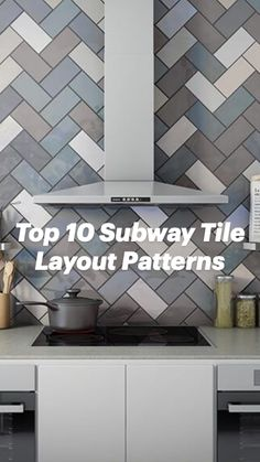 Tile Layout Patterns, Color Patterns, Kitchen Tile, Fireplace Surrounds, Subway Tile, Diy Projects To Try, Tile Design, Hgtv, Mosaic Tiles