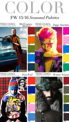 Trend Council:  Color - FW15/16 Seasonal Palettes