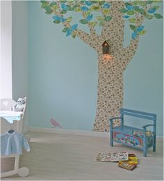 Tree Wallpaper Silhouette for a Nursery or Kid's Room