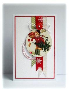 Krystynas i jej papierowy świat: Świąteczne kartki.  http://krystynas-krystynas.blogspot.com/2012/10/pierwsze-swiateczne.html