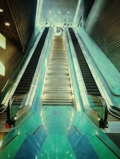 Escalators made beautiful. City life doesn't have to be dull :)