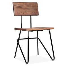Cult Living Transit Chair With Wood Seat - Black