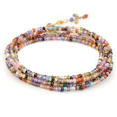 Multi Colored CZ Gemstone Wrap - Bracelets - Jewelry