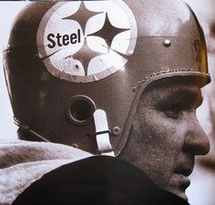 The iconic Pittsburgh Steeler logo, which began unceremoniously in 1962, when a US Steel sticker was placed on the right side only of the helmets. They had to slice the edges so it would lay flat. The 1962 Steelers finished 9-5, the winningest team in franchise history to date, finished 2nd in the E. Conference and qualified for the Playoff Bowl. They wanted to do something special for their first postseason game, so they changed their helmets from gold to black which highlighted the new logo.