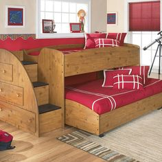 If you are struggling on what beds you can make for your kids or for your guest room without being boring, here are some double deck bed design ideas. Loft Bunk Beds, Bunk Bed Plans, Modern Bunk Beds, Bunk Beds With Stairs, Kids Bunk Beds, Diy Bunkbeds, Double Deck Bed, Double Loft Beds, Bunk Bed Designs