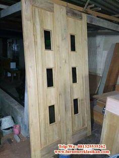 desain model 1 pintu jati minimalis modern, desainer kusen pintu jati kupu tarung, deskripsi pintu rumah jati ukir, ahli pintu jendela jati minimalis, spesialis pintu rumah kupu tarung berbagai model serta ukuran. Wooden Doors, Door Design, Kitchen Design, Design Of Kitchen, Wood Doors