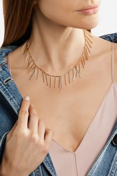 Isabel Marant - Fringed Silver And Gold-tone Necklace - one size