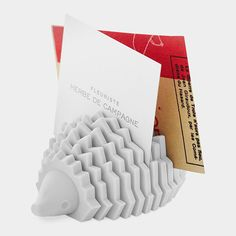 """LIKE THE CONCEPT FOR HOLDING ALL MY SCRAPS OF """"TO DO """" PAPERS BUT NOT THE HEDGEHOG LLP Hedgehog Card Holder"""