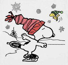 Snoopy skating