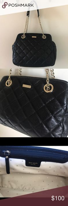 ✨Kate Spade Gold Coast Elizabeth Quilted Bag✨ Kate Spade New York Gold Coast Elizabeth black quilted bag. Great condition, there is a small stain on the under side of the bag (see pictures). kate spade Bags
