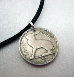 Coin Jewelry  IRISH CELTIC RABBIT coin by waterleliejewellery, $9.95