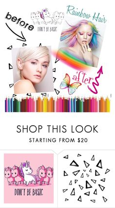 """Before & After: Be a Unicorn ♡️"" by onelittleme ❤ liked on Polyvore featuring beauty, Nika and unicornhair"