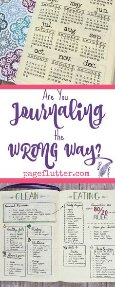 Are You Bullet Journaling the WRONG Way? | pageflutter.com | Simple or artistic? Minimalist black and white or creative color coding? Here are 10 bullet journal pitfalls to avoid.