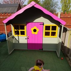Buy Waltons 6 x 5 Honeysuckle Wooden Playhouse at Waltons Garden Buildings. Swiss Cottage, Wooden Playhouse, Garden Buildings, Cottage Design, Play Houses, Places To See, Pond, Environment, Bright