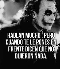 Joker Frases, Joker Quotes, Positive Phrases, Positive Quotes, Joker Cosplay, Meaningful Quotes, Inspirational Quotes, Suicide Squad, Quotes En Espanol