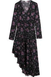 Rovigo ruffled floral-print silk dress