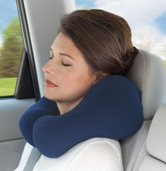 Ergonomic Travel Neck Pillow – $25 #travel #support #carry #car #auto #quality #design #relax