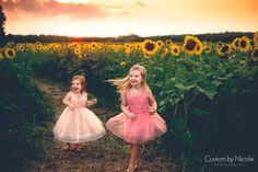 summer portrait session in sunflower field