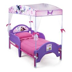 Delta Children's Products Minnie Mouse Canopy Toddler Bed >>> Want additional info? Click on the image. (This is an affiliate link) #NaturalHomeDecor