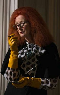 Frances Conroy as Myrtle Snow in American Horror Story: Coven. Costume Designer: Lou Eyrich.