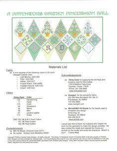 Patchwork Garden Pincushion Ball - this look intriguing. Biscornu Cross Stitch, Cross Stitch Embroidery, Types Of Embroidery, Embroidery Patterns, Christmas Cross, Christmas Sewing, Cross Stitch Designs, Cross Stitch Patterns, Blackwork Patterns