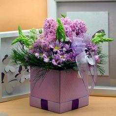 Lila Kutu Concept  Kullanılan Malzemeler: Orkide, Sümbül, Ornis, Çardak Gül, Krizantem ve Dekoratif Kutu