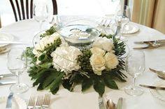 Centros de Mesa con Velas para Bodas   peinados de novia, peinados de moda