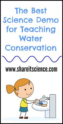 The World's Water Situation: A Science Demo for School or Home. Allow kids to see why we should conserve water, rather than just telling them!