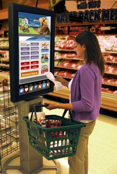 Great interactive kiosk in a grocery store #disruptiveretail