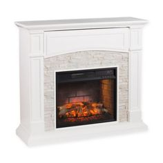Freshen up your living space and bring warmth to your home with the Southern Enterprises Seneca Infrared Electric Media Fireplace. Featuring a life-like faux stone surround and farmhouse-inspired style, this fireplace warms up to 1,000 sq. ft. of space.