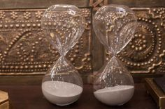 50 Local Holiday Gifts under $50: Sand filled hourglass timers at Merridian for $27.