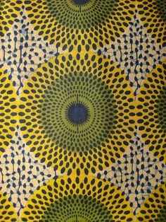This African print heavily influenced our circular repeating patter design.