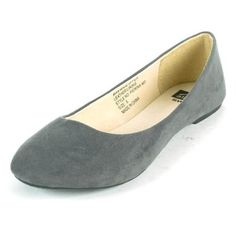 Alpine Swiss Pierina Women's Ballet Flats Leather Lined Classic Slip On Shoes Gray Micro-Suede Size 9