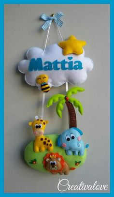 Handmade Felt, Handmade Crafts, Diy And Crafts, Crafts For Kids, Baby Crafts, Felt Crafts, Felt Turtle, Felt Name Banner, Felt Animal Patterns