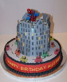 Spider-man cake....Will would LOVE this!