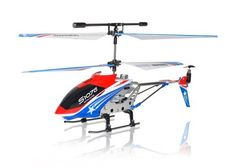 """New Genuine 2012 Syma S107G Special Edition American Flag Colors Theme 3CH Gyro RC Helicopter With AC Charger by RC TOYS VILLAGE. $28.90. This Brand New 3 Channel Gyro mini Metal rc helicopter is 1 of the world's newest, smallest and lightest RC Helicopter you can get! At approx. 7.5"""" long, it easily fits in the palm of your hand and is fully functional, which makes this helicopter an instant hot seller in the RC World. This mini Gyro Metal helicopter charges ..."""