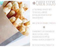 CHEESE STICKS // JUUSTOTIKUT ~ NO HOME WITHOUT YOU
