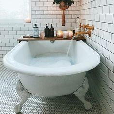 We created this ultra-relaxing bath salt in collaboration with OSEA. Our exclusive bath salt is made from a blend of soothing lavender and essential oils, designed to promote deep, restful sleep. Made in USA. Dream Bathrooms, Small Bathroom, Bathroom Ideas, Bathroom Organization, Ikea Bathroom, Bathroom Plants, Boho Bathroom, Industrial Bathroom, Bathroom Storage