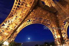 Eiffel Tower Paris art  Paris at night lights on the by Myartspace, $22.00