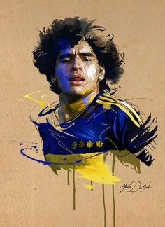 Diego Maradona of Boca Juniors wallpaper. Football Art, Basketball Art, World Football, Diego Armando, Sports Drawings, Football Wallpaper, Sports Stars, Lionel Messi, Football Players