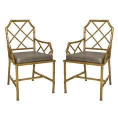 Brass Bamboo Chairs