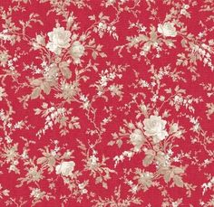 With All My Heart - Red Large Floral - Red Rooster