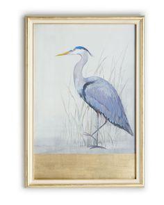 "H79Q3 John-Richard Collection ""Keeping Watch II"" (Left Facing) Heron Print"