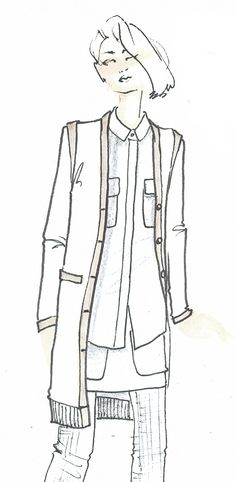 One of the initial design sketches for the new collection by Agyness Deyn for Dr. Martens. Coming August 15th