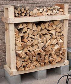 Super facile racks de bois de chauffage bricolage -5