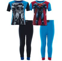 Batman Superman Muscles 2-Pack Cotton Pajamas for Boys