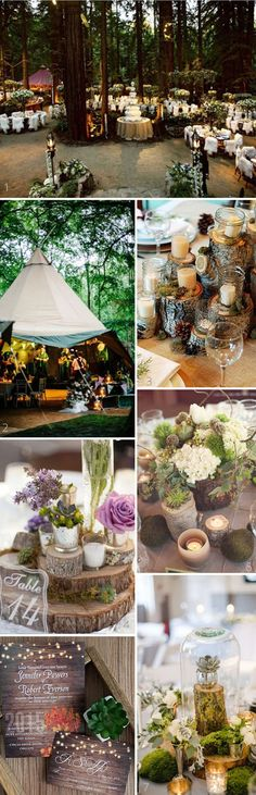 country rustic woodland fall weding ideas