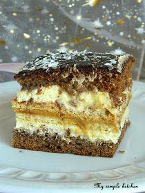 Zostałam niedawno poproszona o upieczenie ciasta na urodzinowe przyjęcie - stąd nazwa wypieku :)  Wymyśliłam sobie coś kremowego, słodk... Cake Cookies, Sugar Cookies, Cupcake Cakes, Sweet Recipes, Cake Recipes, Dessert Recipes, Cake Bars, Hungarian Recipes, Polish Recipes