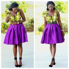 Here are 35 Plain & Pattern Ankara styles you should try out this year. Pictures Of The Latest Plain & Pattern Ankara Gown Styles African Fashion Designers, Latest African Fashion Dresses, African Dresses For Women, African Print Fashion, Africa Fashion, African Attire, African Wear, African Women, Ankara Fashion